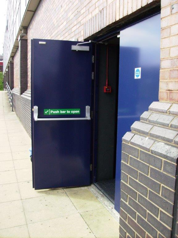Double Fire Exit Doors