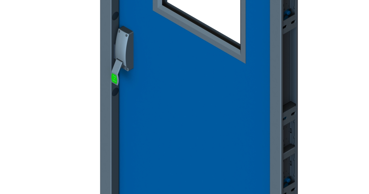 Fire Exit Door with Vision Panel