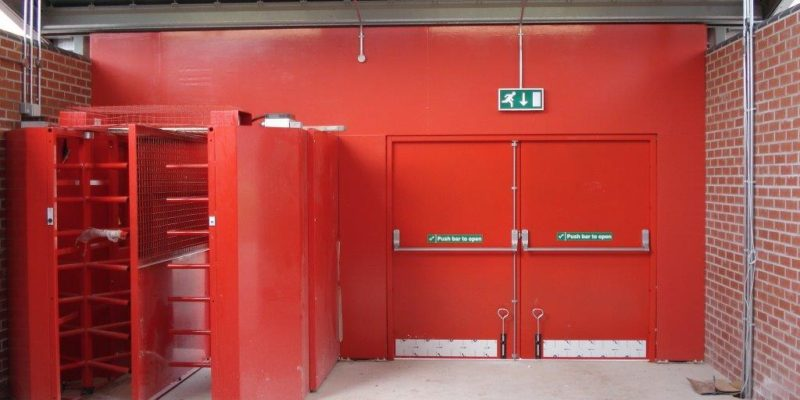 Stadium Double Fire Exit Doors