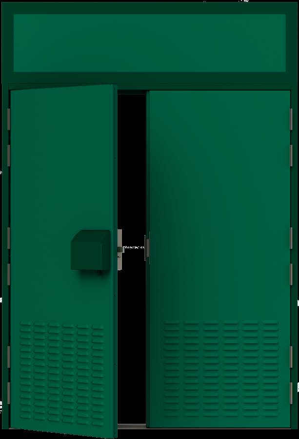 HMG Substation Door - Double Louvred Door External