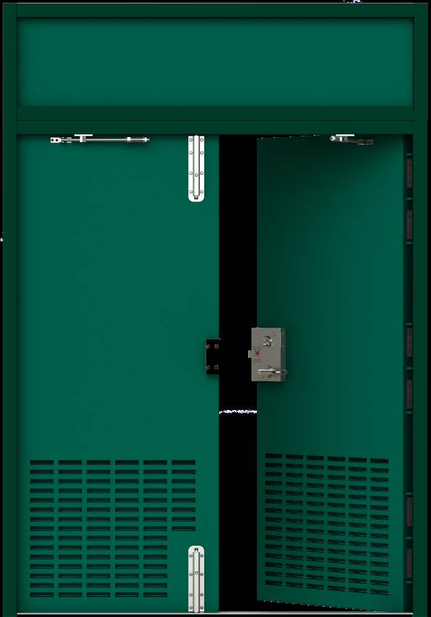 HMG Substation Door - Double Louvred Door Internal