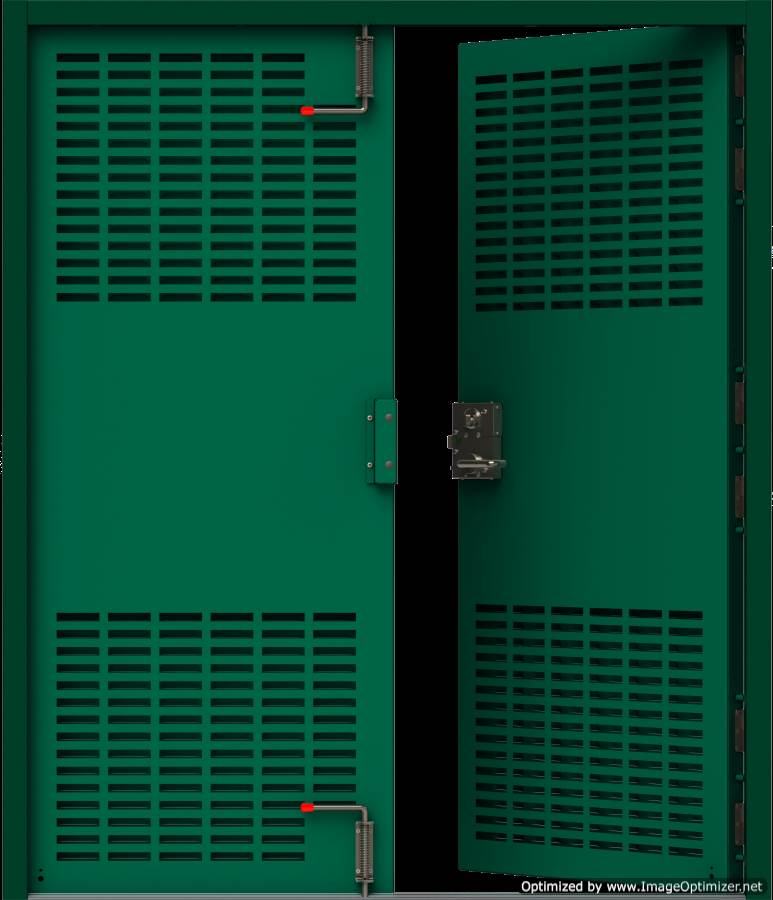 HMG Substation Doors - Double Louvred Door Internal